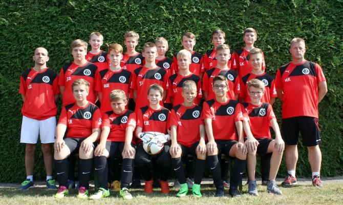 Mannschaftsfoto der Fussball C-Jugend 2013