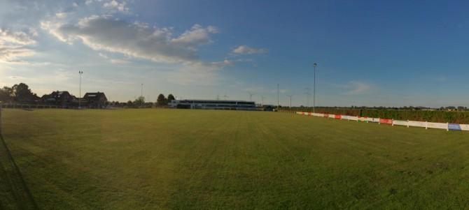 Panorama-Bild vom Sportplatz
