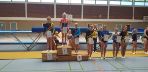 Platz 3  Hannah Pfingsten-Mensching, Platz 5 Christine-Marie Blut
